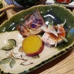 日本料理 水嶋 - 焼き魚は「ツバス」、「あんきも」も美味しい