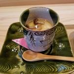 日本料理 水嶋 - 茶碗蒸しは出汁が効いてて美味しい
