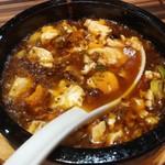 94646422 - 熱々、グツグツの麻婆豆腐