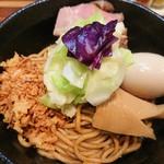 五ノ神水産 - 味玉海老油そば(ネギ抜き)