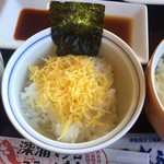 不老ふ死温泉 - 丼:鮪ステーキ片面焼き用