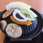 不老ふ死温泉 - 野菜焼き