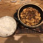94654609 - 麻婆豆腐+ごはん(中)¥950-
