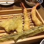 天ぷらスタンドKITSUNE - キス、えび、茄子