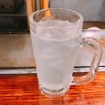 大阪お好み焼 英 - 3杯目は珍しく生レモンサワー