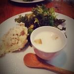 農園レストラン タコ ヒストリア 871 - 前菜3種。