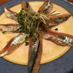五反田漁師バル - 秋刀魚の燻製カルパチョ