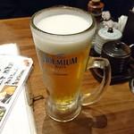 肉汁餃子のダンダダン - 生ビール プレモル 480円 肉汁餃子製作所ダンダダン酒場
