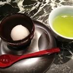 魚貝三昧 げん屋 - 梨のシャーベットとお茶
