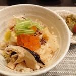 禅紫 - 秋の彩りご飯(松茸、栗、ぎんなん)