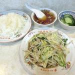 北葉飯店 - 料理写真:野菜炒めライス(2018/10/11撮影)