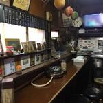 銚子屋 - 店内。昭和的で素晴らしい!