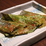 田無羅 - ゴマの葉キムチ500円