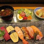 寿し善 - 料理写真:ランチ「ひのき」1300円