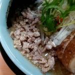 ラーメン入江屋 - 入江みそDXラーメンのそぼろ状の豚バラ肉