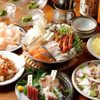 【超お得】海鮮鍋&お刺身飲み放題コース!各種ご宴会におススメ