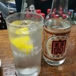 富士屋本店 - レモンサワー1杯目