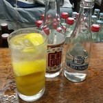 富士屋本店 - レモンサワー3杯目