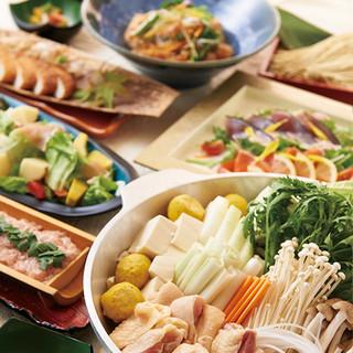 鶏と生つくねのちゃんこ鍋コース◎忘年会にも最適!