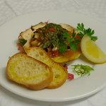 カームカフェ - 帆立といろいろ野菜の香草バター焼き