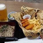 つけ蕎麦 えび福 - おつまみセットとナゲット&ポテト