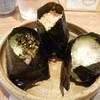 みつや - 料理写真:左から時計まわりに高菜・焼タラコ・塩むすび