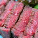 兎に角 - 道産牛ヒレ肉の炙り