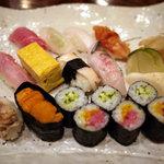 やまひこ鮨 - 相模湾の地魚を中心に使った【おまかせすし】¥3500