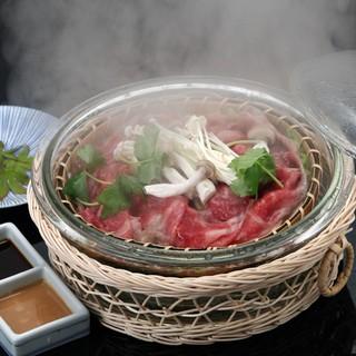 淡路牛と松茸のコース(10月~11月)