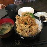 渥美の丼屋 まるみ - 妻のシラスかき揚げ丼(小盛り)626円です。