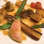 山梨レストラン メリメロ - 野菜の旨味を逃がさない栄養満点スチーム野菜の盛り合わせ アップ