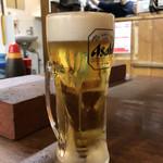 ホルモンまさる  - 「生ビール」390円