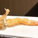 天ぷらとワイン大塩 - 二度見エビ