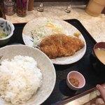 柳ばし - とんかつ定食+ねぎ味噌(10円)