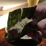 菊鮨 - まな鰹と栗・・面白い組み合わせ。こういう発想が素晴らしい。
