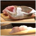 菊鮨 - 立派なあら(18kg)・・すごい迫力