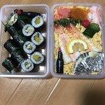 大政すし - 新香巻きハーフとあなきゅう巻きハーフとお子様ちらし! 1220円!