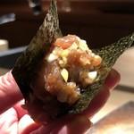 菊鮨 - ◆私には鯖の代わりに「中落ち」・・これも秀逸。