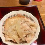 旬菜‐小豆 - 仙台麩と豚肉煮