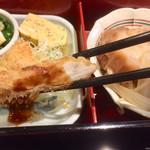 旬菜‐小豆 - シャモの笹身フライ