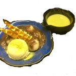 白玉ぜんざいの抹茶アフォガード