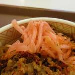 すき家 - 紅生姜が実にいい仕事してます。