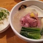 94707030 - 真鯛ラーメン・雑炊ミニ・味玉