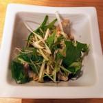 吟醸マグロ - 鶏ハラミポン酢480円