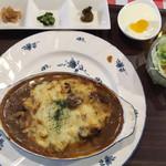 古民家ダイニング 道満 - 道満カレーセット 焼きカレー