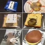 94712089 - 栗鹿ノ子 ミニ                       くりあんケーキ                       栗かのこどら焼き