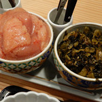 94729834 - 食べ放題の「明太子と高菜」