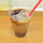 cafe LILAS - アイス珈琲(ミルク投入)