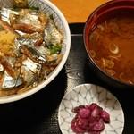 まるさ水産 - 根室サンマ丼(税込1,080円)