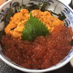 柿崎商店  - ウニ丼イクラトッピング